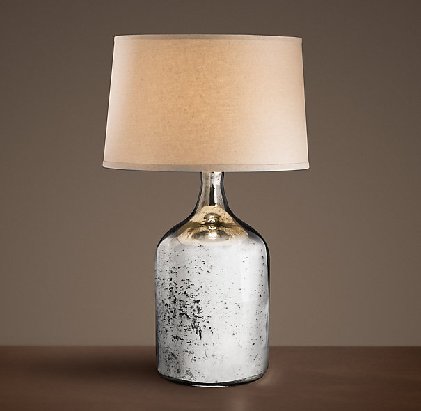vintage mercury glass lamp from restoration hardware mercury glass. Black Bedroom Furniture Sets. Home Design Ideas