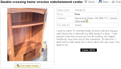 Home wrecker entertainment centre