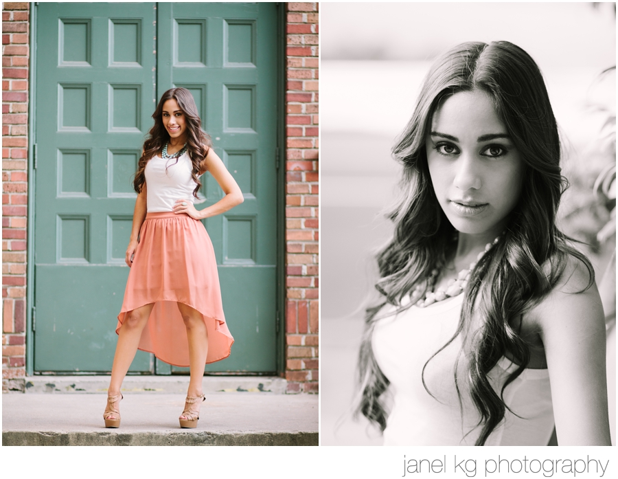 Elaina looking fashionable and lovely for her Sacramento senior portraits with Janel KG Photography