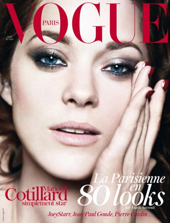 marion cotillard vogue paris