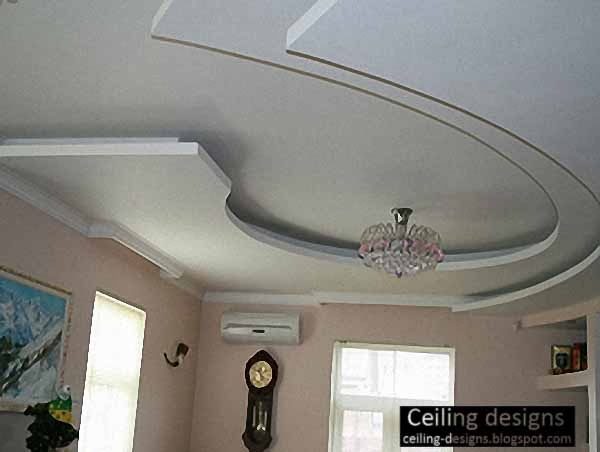 Curved gypsum ceiling designs for living room for Gypsum ceiling designs for living room