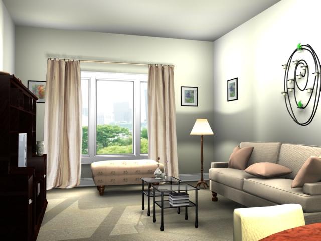 Beautiful Living Room Decoration System Design Interior
