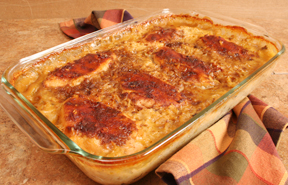 chicken and rice casserole 4 chicken thighs or breasts i