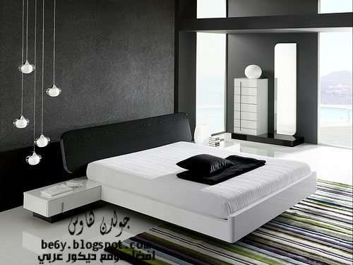Black and white for Chambre a coucher gris et noir