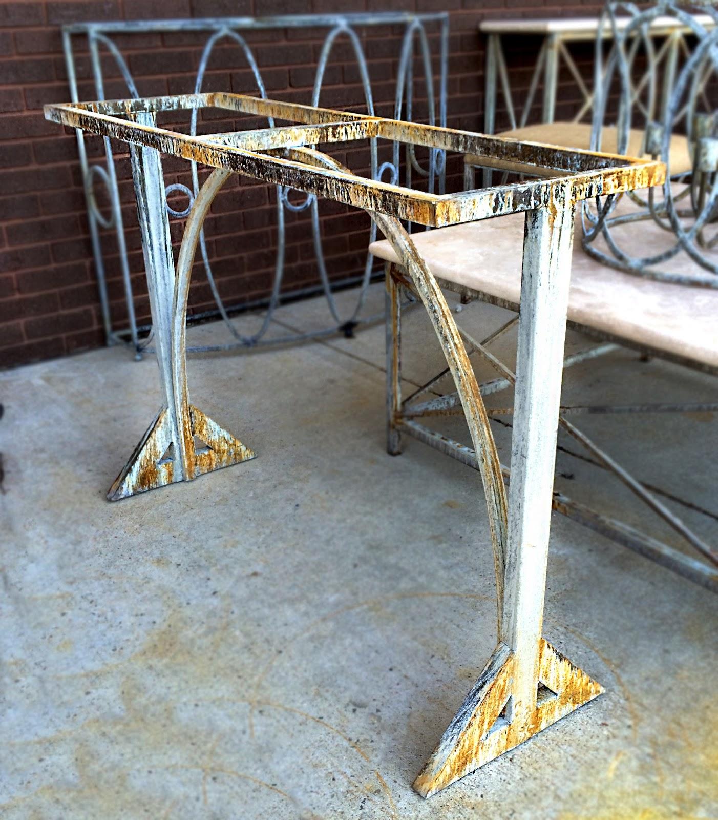 handmade iron table base