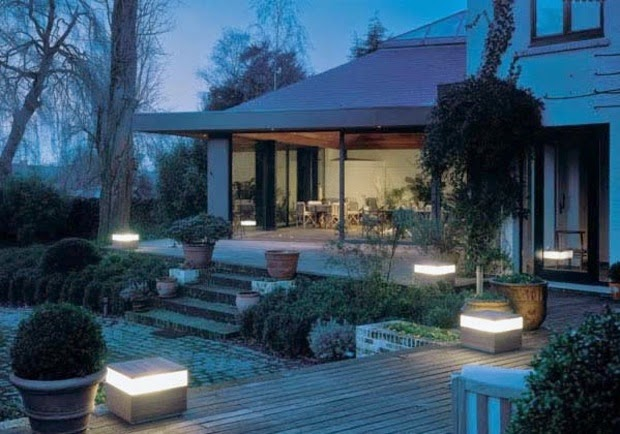 Outdoor LED lighting ideas  terrace dotted with LED terminals20 Outdoor LED lighting ideas   How to illuminate a terrace. Outdoor Led Lights For Homes. Home Design Ideas