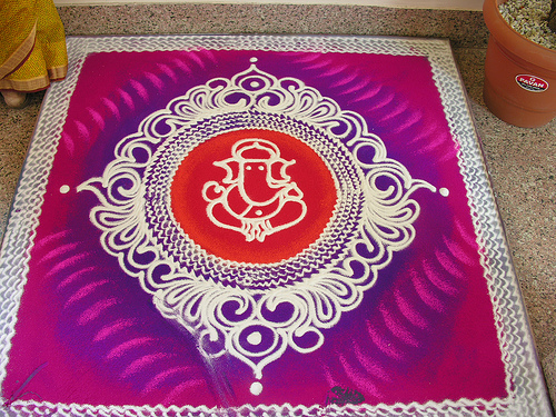 Rangoli is an art of drawing