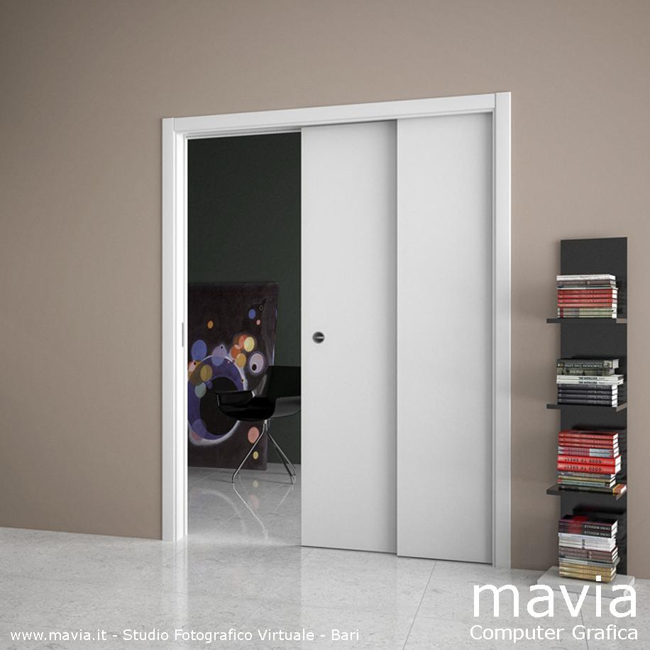 Arredamento di interni porte interne scorrevoli ed a for Porte scorrevoli arredo