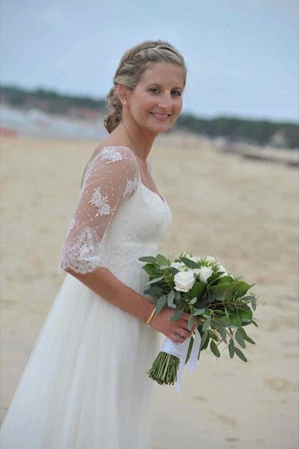 robe de mariée dentelle plage confidentiel création