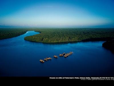 Fisherman's pond , Orinoco delta , Venezuela