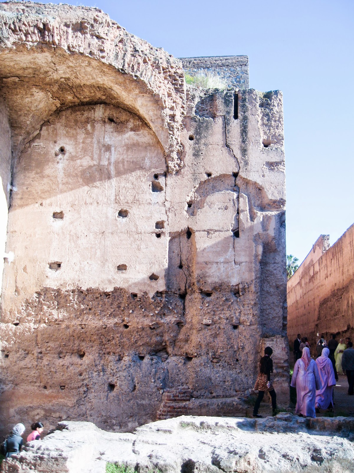 top tourist attractions of Marrkech, Morocco: ruins of Palais El Badiî / El Badi Palace