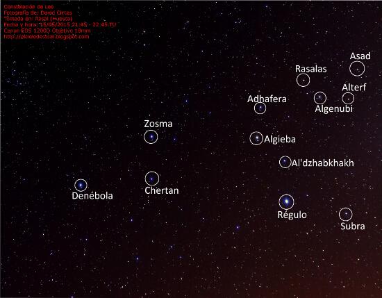 Constelacion de Leo - Estrellas - El cielo de Rasal