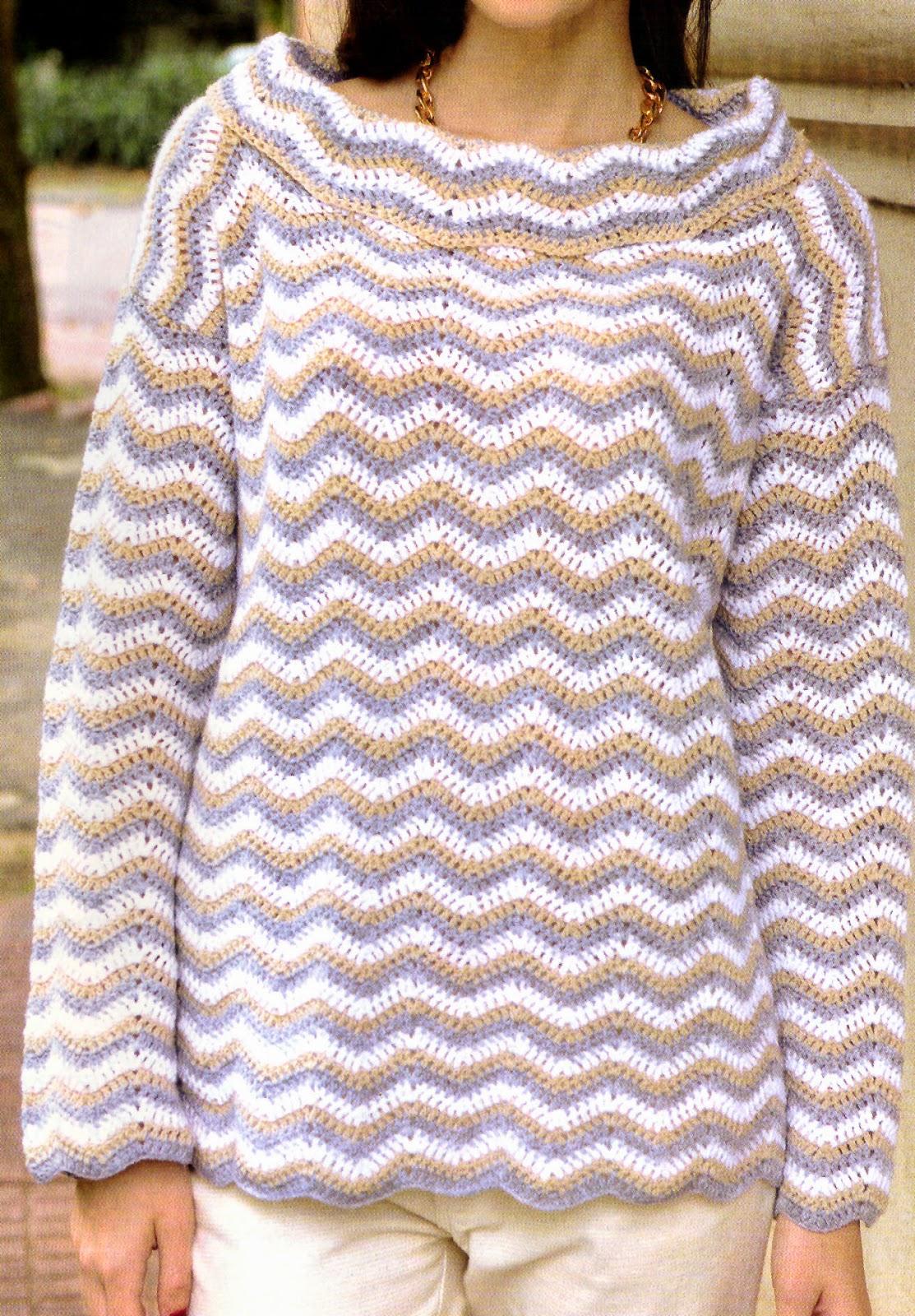 sueter optico tejido en crochet DEL