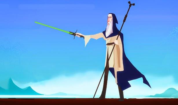 """´Fusión """"Star Wars y El Señor de los Anillos"""": Gandalf Jedi"""