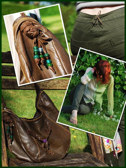 Psynopsis Next Skinnies DIY Leather Bag Collage
