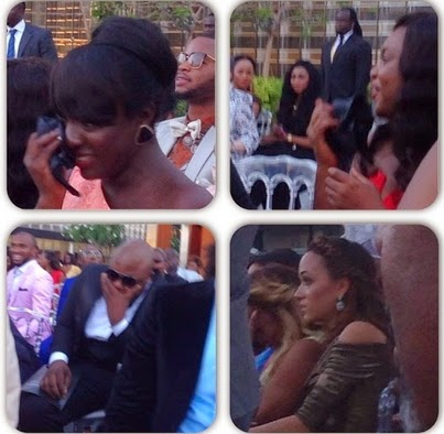 guests crying tiwa savage wedding