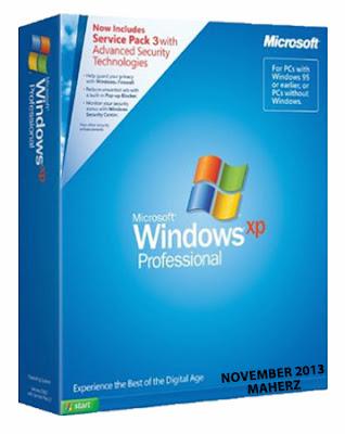 Windows XP Professional SP3 (x86) Integrated November 2013-Maherz