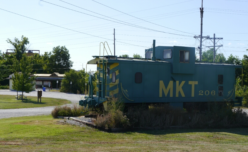 Katy caboose at Katy Trail start