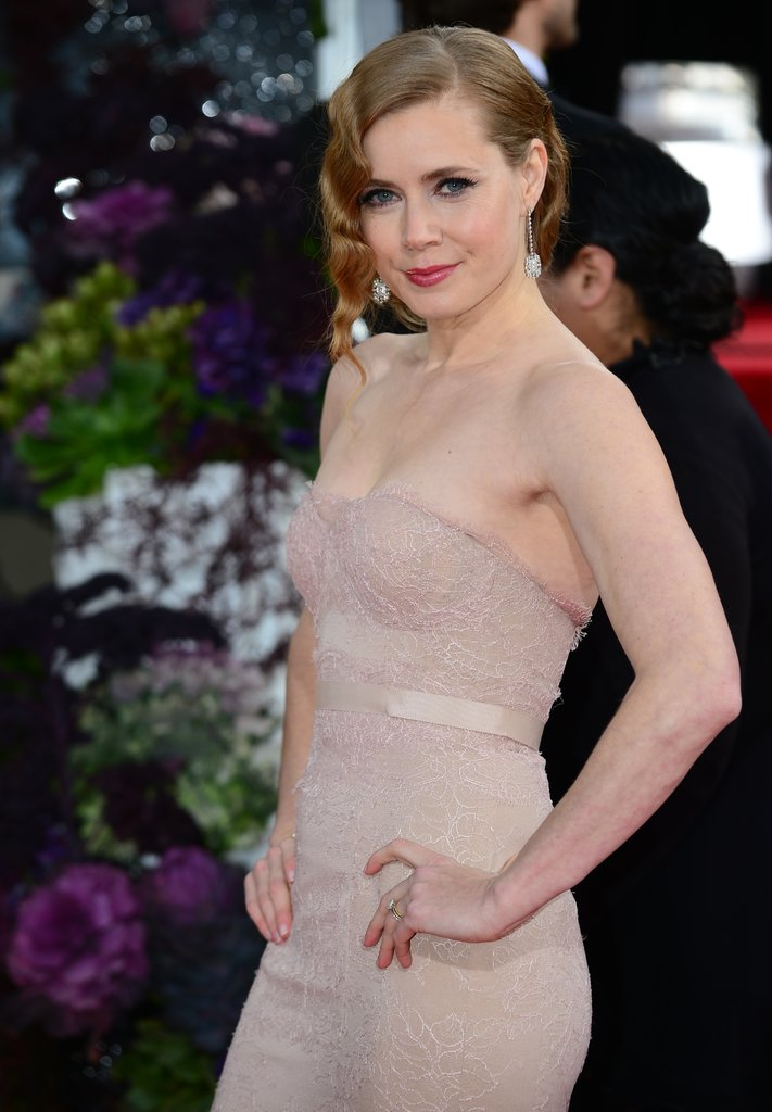 Celeb Diary Amy Adams 2013 Golden Globe Awards