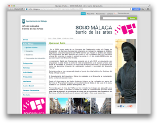 Web SOHO de Málaga
