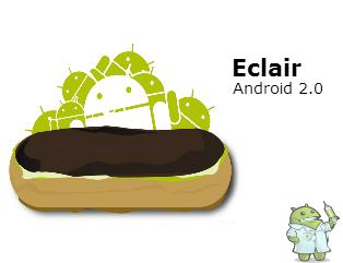 Versões do Android: Eclair!