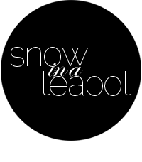 Snow in a Teapot: Design Blog