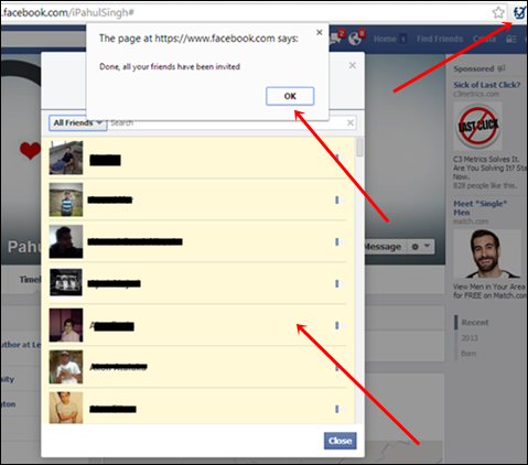 How To Suggest All Facebook Friends To Different Account Extension