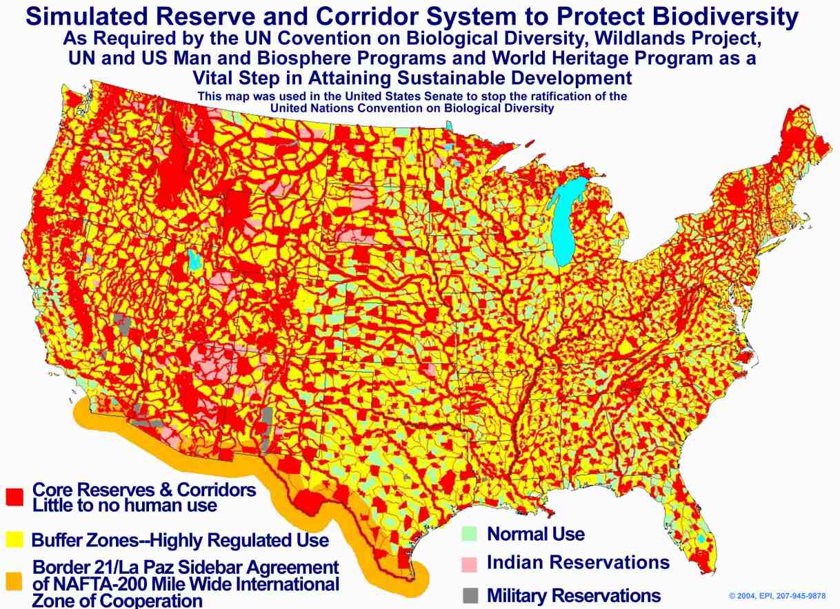 clipped map sourced form senate hearings sources print maps Agenda 21 US map