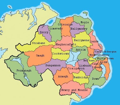 Northern Ireland Map Regional Map Of Ireland City Regional Political - Northern ireland map