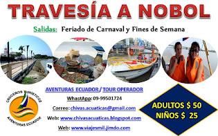 Turis Chiva Acuática a Nobol (Carnavales 2016)