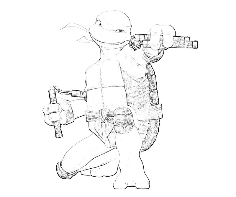 tmnt michelangelo coloring pages