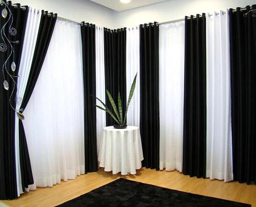 Cortina Preto e Branco  Decoração do quarto