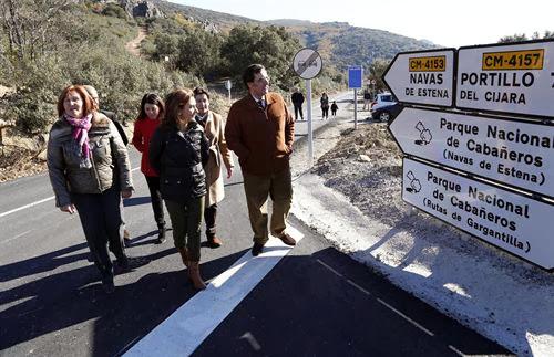 Carretera arreglada en el Parque Nacional de Cabañeros