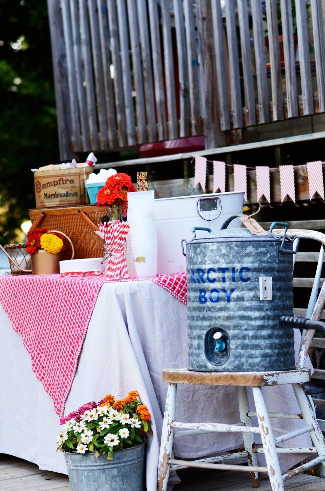 natalie creates a vintage inspired backyard birthday barbecue