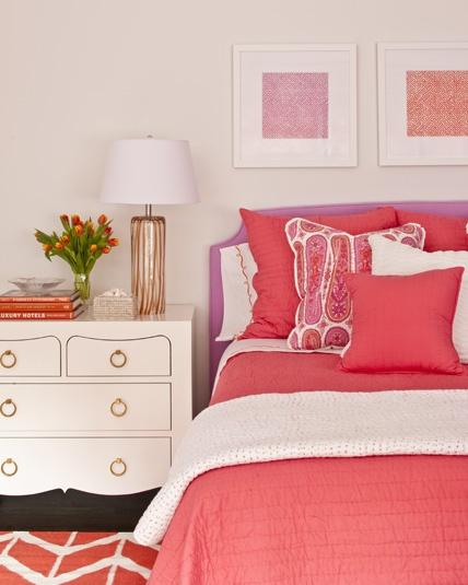 Bedroom Design Colors Ideas Bedroom Design Purple Coral Bedroom Curtains 3 Bed Bedroom Designs: Not Your Average Colour Scheme