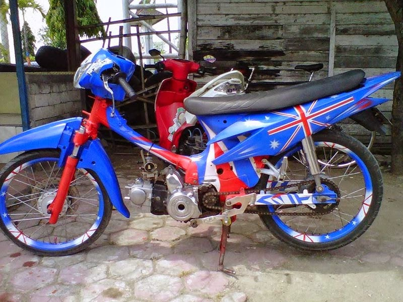 modifikasi honda revo fit 110cc