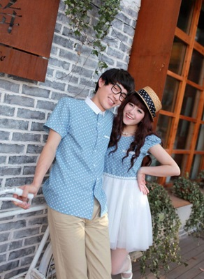 Dress Onde Couple Murah Jakarta Bahan Denim Murah Warna Biru