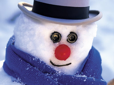 Free Cute Snowman Wallpaper for Desktop Background