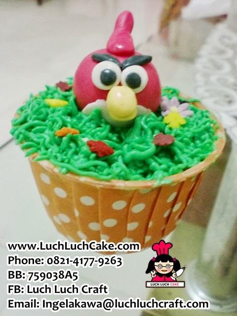 cupcake angry bird lucu daerah surabaya sidoarjo