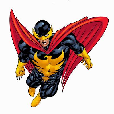 Dibujo de Halcón Nocturno-Marvel por Mike Deodato