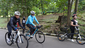 Tingkatkan Imunitas Tubuh, Danrem 061/SK Bersepeda Keliling Kebun Raya Bogor