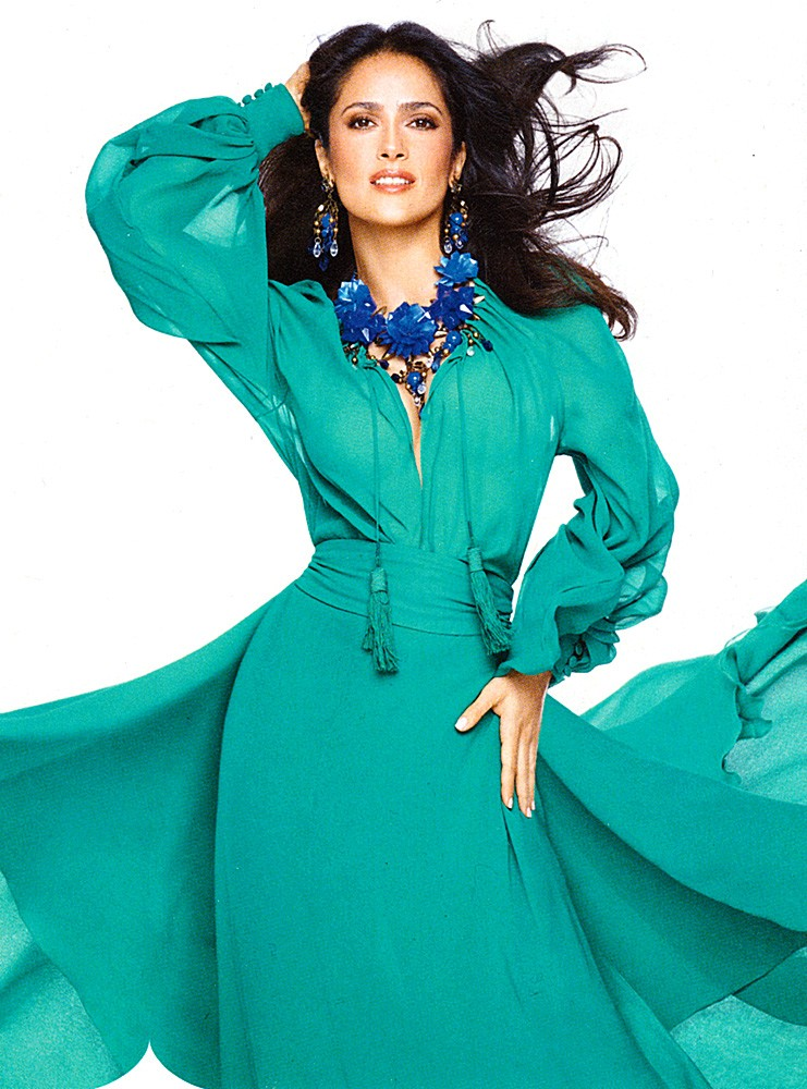 Actress Salma Hayek Lands The July Cover Of American Instyle Magazine