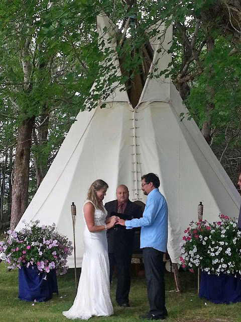 Wedding ideas camp grounds wigwam The Islands Provincial Park Shelburne Nova Scotia