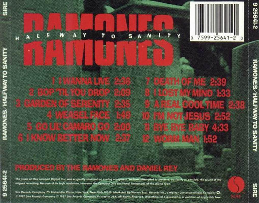 Ramones Halfway To Sanity
