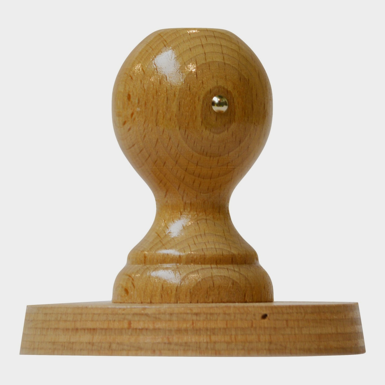 Grote handstempels van hout laten maken