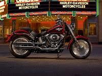 2013 HarleyDavidson FLSTF Softail Fat Boy gambar motor 1