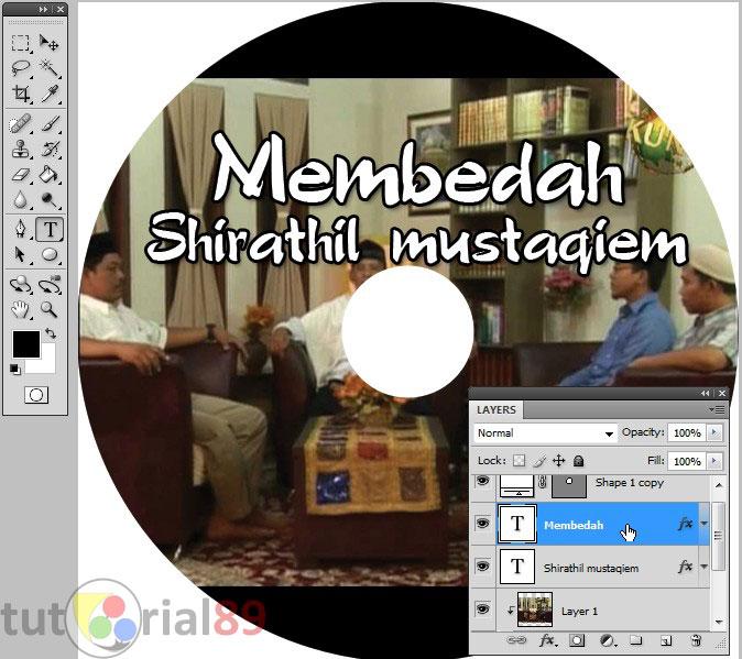 Cara membuat label CD sendiri part 1 (desain label CD)