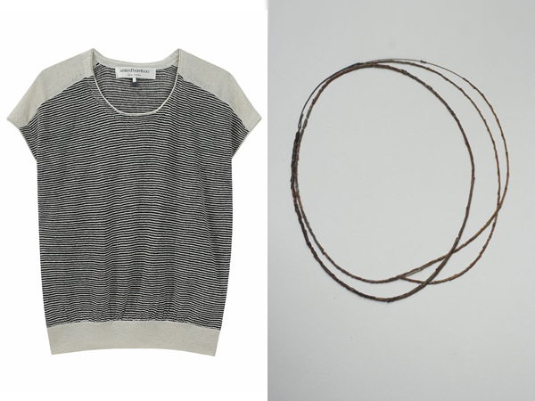 United Bamboo French sleeve linen sweater - Djurdjica Kesic Malmsbury necklace