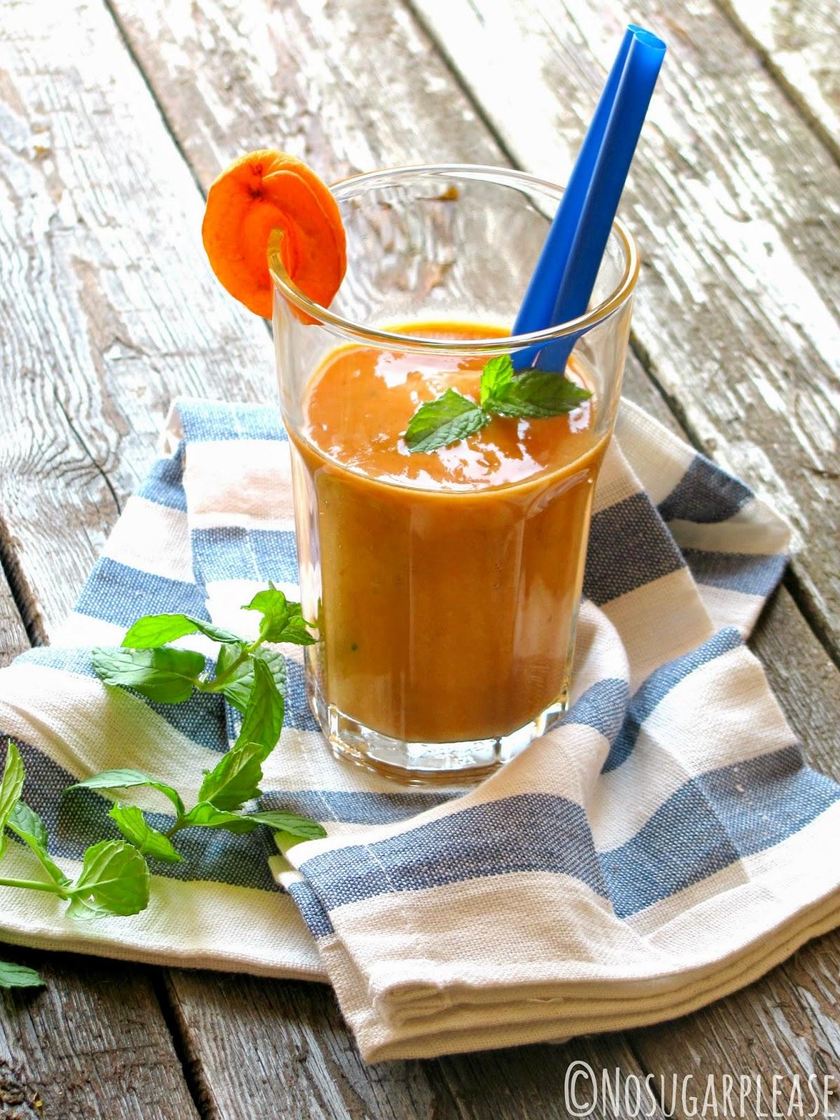 smoothie albicocca senza zucchero
