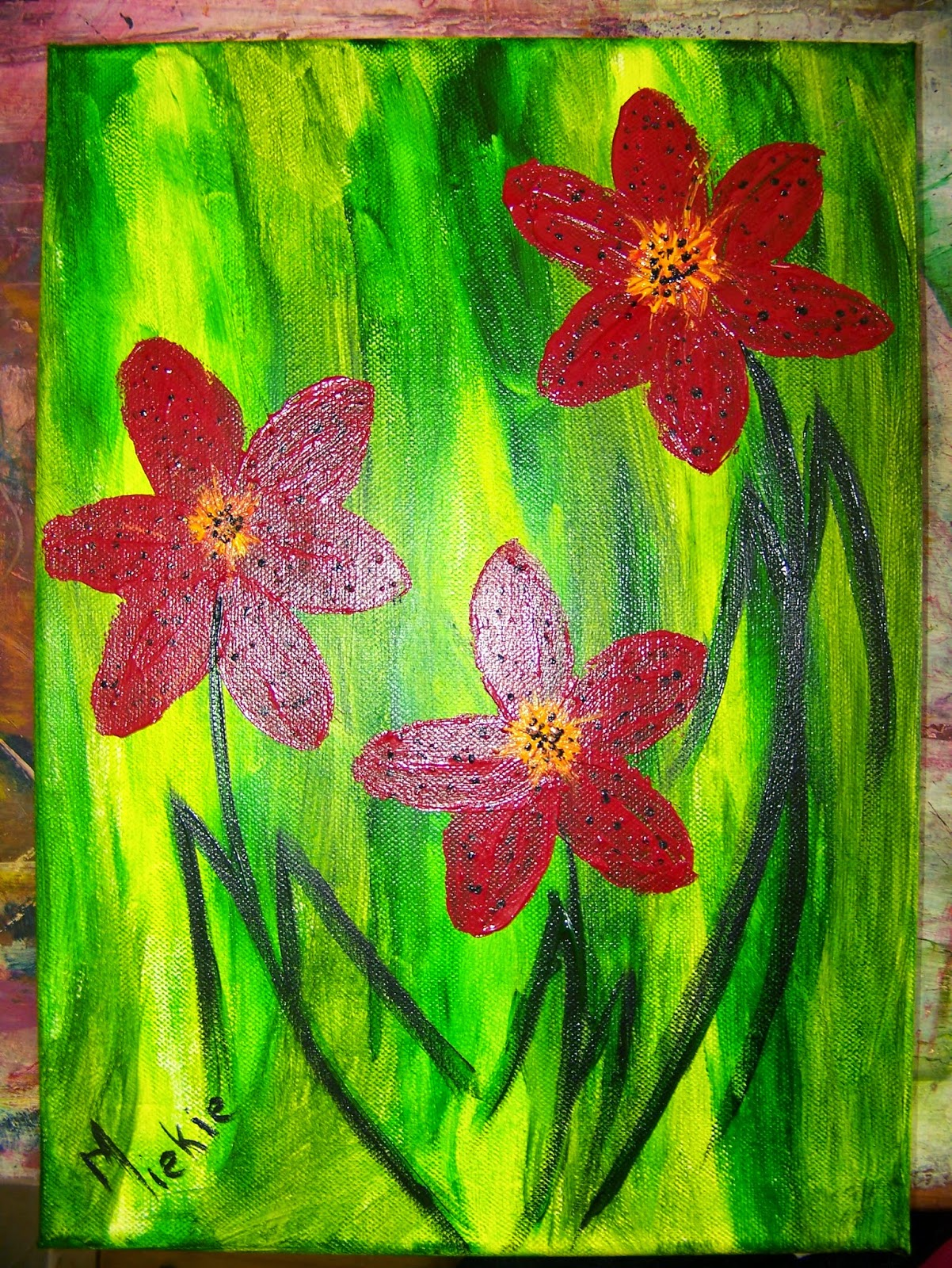 A Pretty Talent Blog Painting Flowers Using Leaves